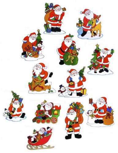 Addobbo per finestre Babbo Natale