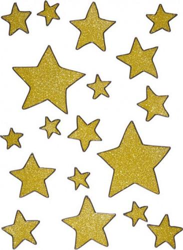 Decorazioni finestre con stelle dorate di Natale