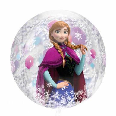 Palloncino tondo con Elsa e Anna di Frozen <br />- Il regno di Ghiaccio™