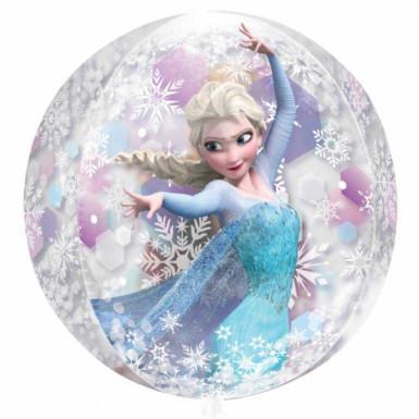 Palloncino tondo con Elsa e Anna di Frozen <br />- Il regno di Ghiaccio™-1