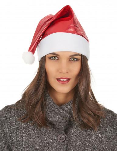 Cappello per Natale rosso metallizzato adulto-2