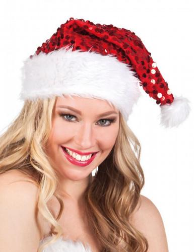 Cappello rosso da Babbo Natale con paillettes