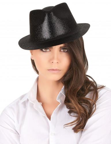 Cappello di colore nero con paillettes-1