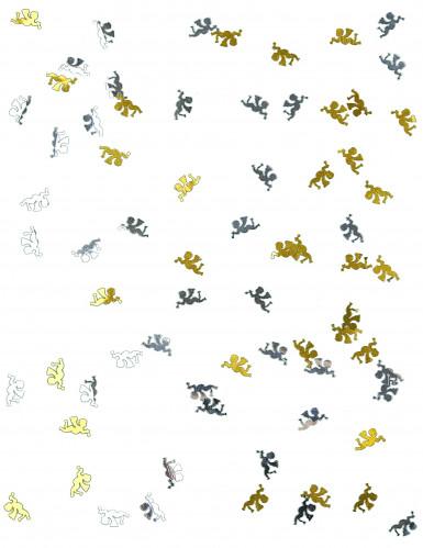 Coriandoli da tavola oro e argento a forma di angioletti-1