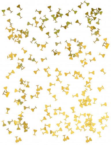 Coriandoli da tavola a forma di coppa di champagne-1