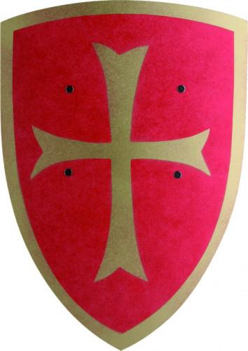 Scudo rosso con croce dorata per bambino