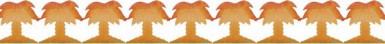 Ghirlanda palme in PVC 3 m
