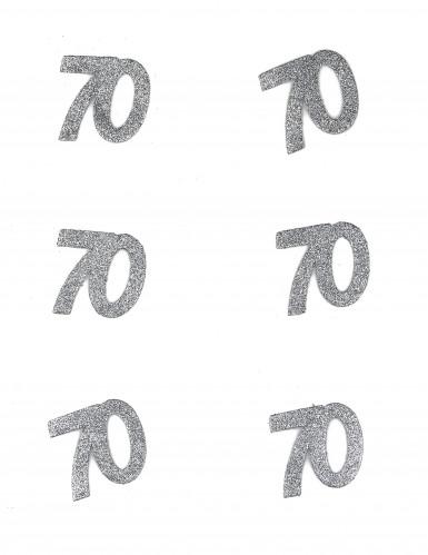 6 Coriandoli argentati numero 70