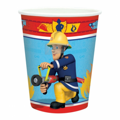 8 Bicchieri di carta di Sam il pompiere