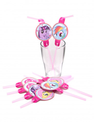 8 cannucce in plastica My Little Pony-1