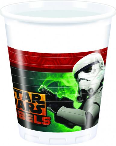 8 bicchieri in plastica di Star Wars