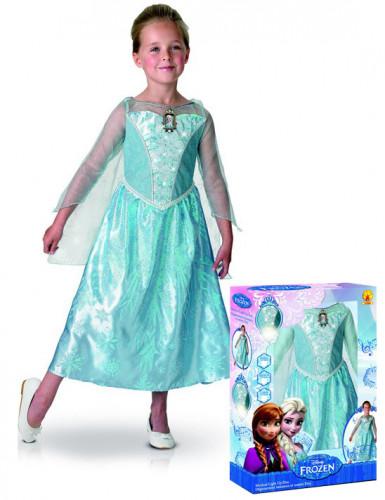 Costume sonoro e luminoso Elsa Frozen™deluxe per bambina