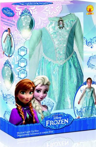 Costume sonoro e luminoso Elsa Frozen™deluxe per bambina-1