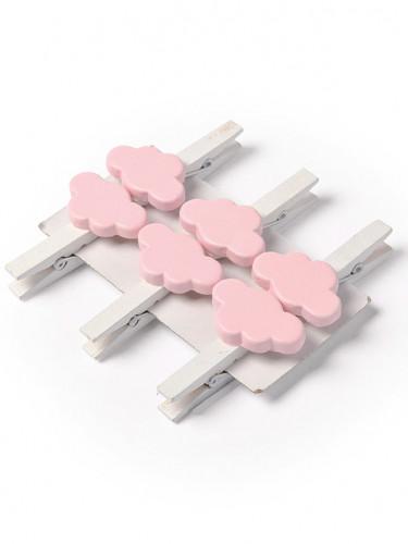 6 mollette nuvola rosa