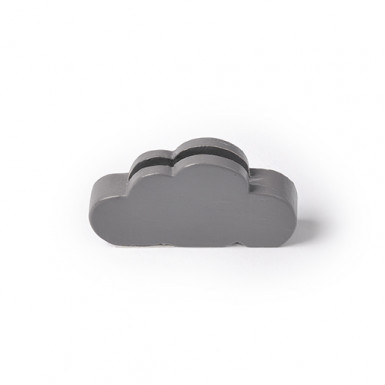 3 segnaposti a forma di nuvola di colore grigio