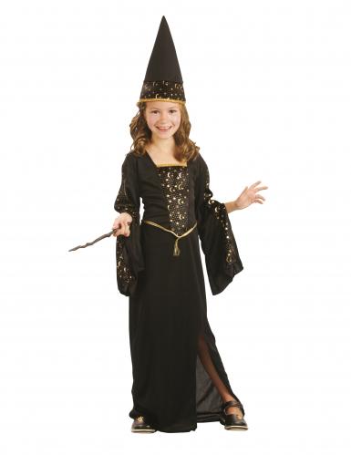 Costume da fatina nero ed oro bambina