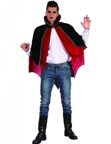 Mantello nero e rosso vampiro adulto