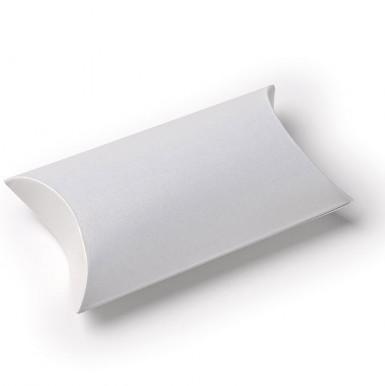 10 scatole in cartoncino bianco perlato