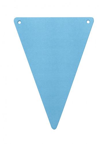 5 bandierine triangolari fai-da-te colore turchese