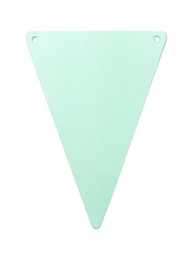 5 gagliardetti di cartone tinta unita color verde menta