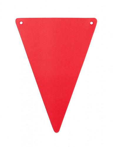 5 gagliardetti DIY di colore rosso