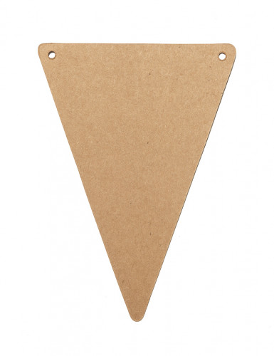 5 gagliardetti triangolari in carta kraft