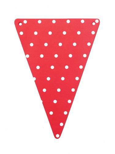Confezione con gagliardetti rossi a pois bianchi