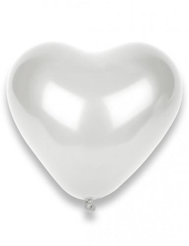 50 Palloncini bianchi a forma di cuore