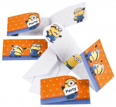 Lotto di 6 inviti Minions™ con bustine