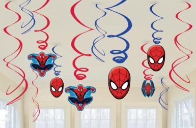 12 decorazioni sospese di Spiderman™