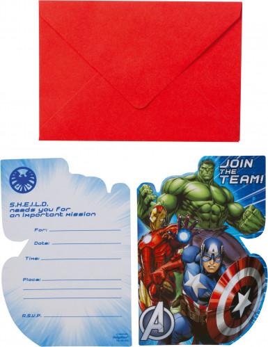 8 Biglietti d'invito per compleanno Avengers™