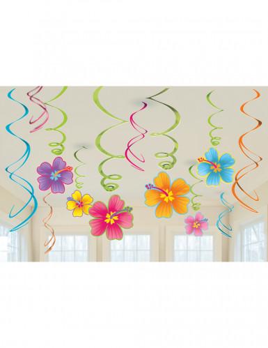 12 sospensioni fiori Hawaii