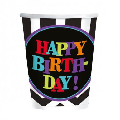 8 bicchieri di carta per festa di compleanno