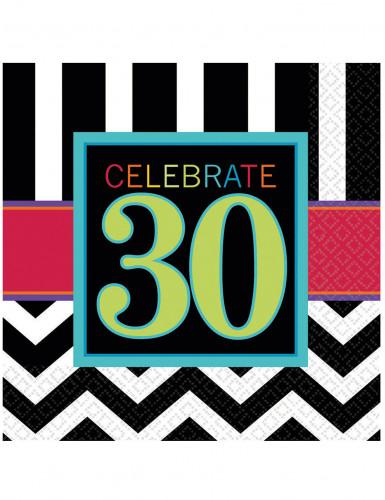 16 Tovaglioli di carta Celebrazione 30 anni cm 33 X 33