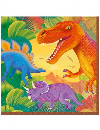 16 tovaglioli di carta Dinosauro 33 x 33 cm