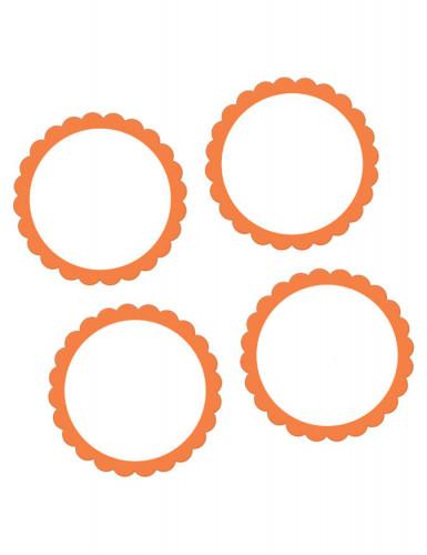 Confezione 20 etichette adesive arancioni