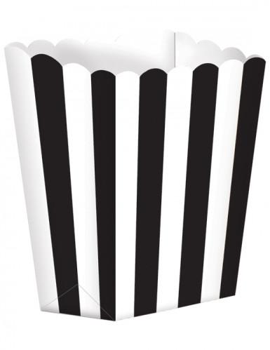 5 scatole per popcorn in bianco e nero