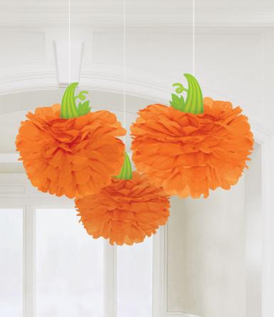 3 decorazioni da appendere a forma di zucca