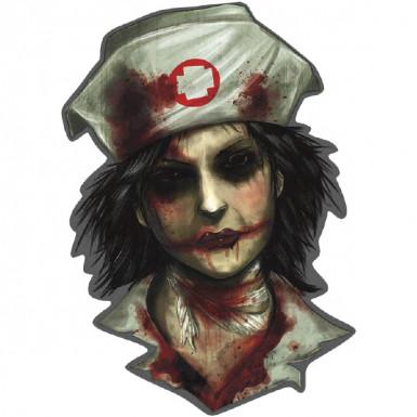Decorazione murale infermiere zombie