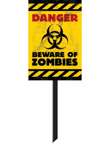 Cartello segnaletico presenza zombie