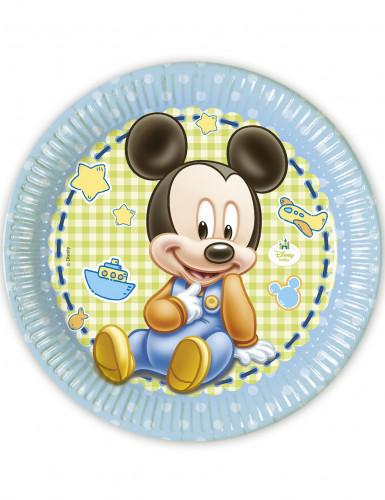 8 Piattini Baby Mickey™di carta