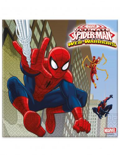 20 Tovagliolini di carta supereroi Spiderman™