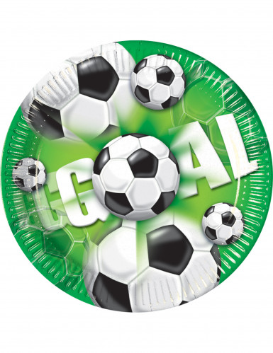 8 piatti di carta Goal Football 23 cm