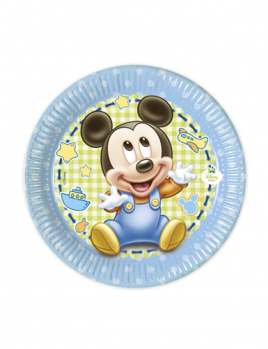 8 piatti in carta baby Mickey