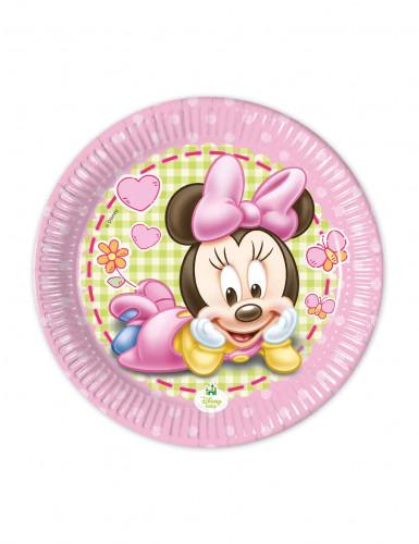 Confezione 8 Piattini di carta Baby Minnie™