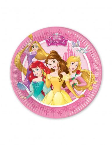 8 piatti di cartone da 20 cm Principesse Disney™