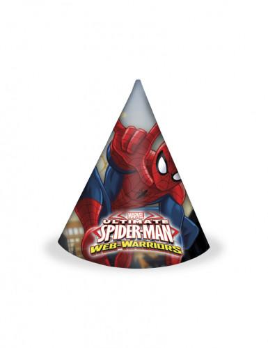6 cappellini conici raffiguranti Spiderman