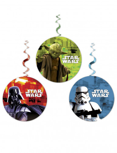 3 Decorazioni vortice da appendere Star Wars™