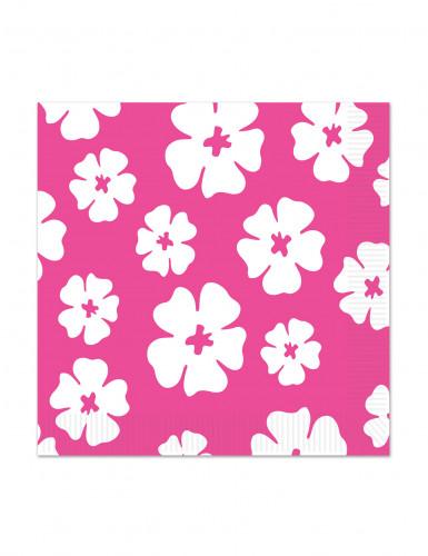 16 Tovagliolini di carta Ibisco Rosa 25 x 25 cm
