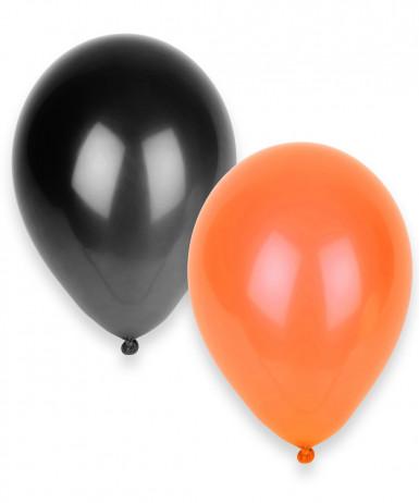 Palloncini neri e arancioni in confezione da 100